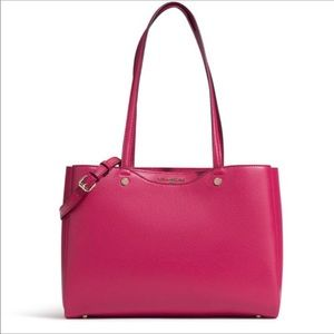 💋Karl Lagerfeld Leather Tote in Hot Pink